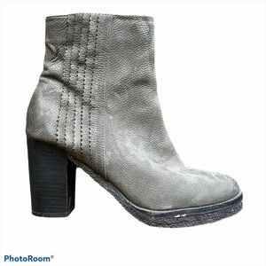 Liebeskind Gray Pebbled Leather Heeled Boots 39